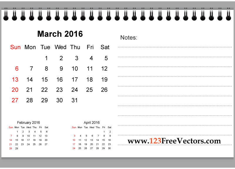 April 2016 calendar with clipart clip art freeuse stock March 2016 Calendar Clipart | free calendar 2017 clip art freeuse stock