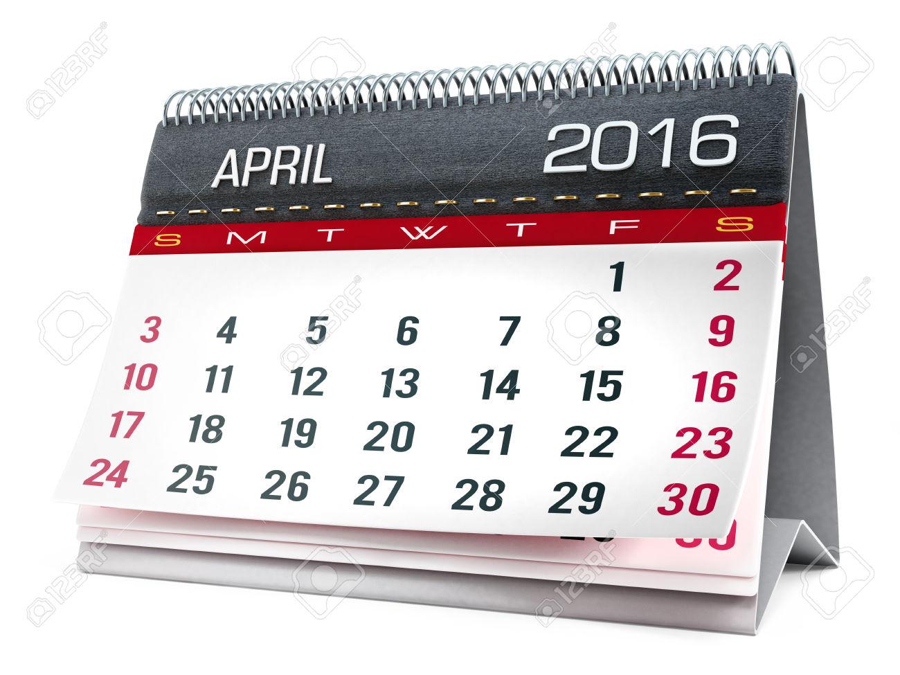 Desktop clipartfox . April 2016 calendar with clipart