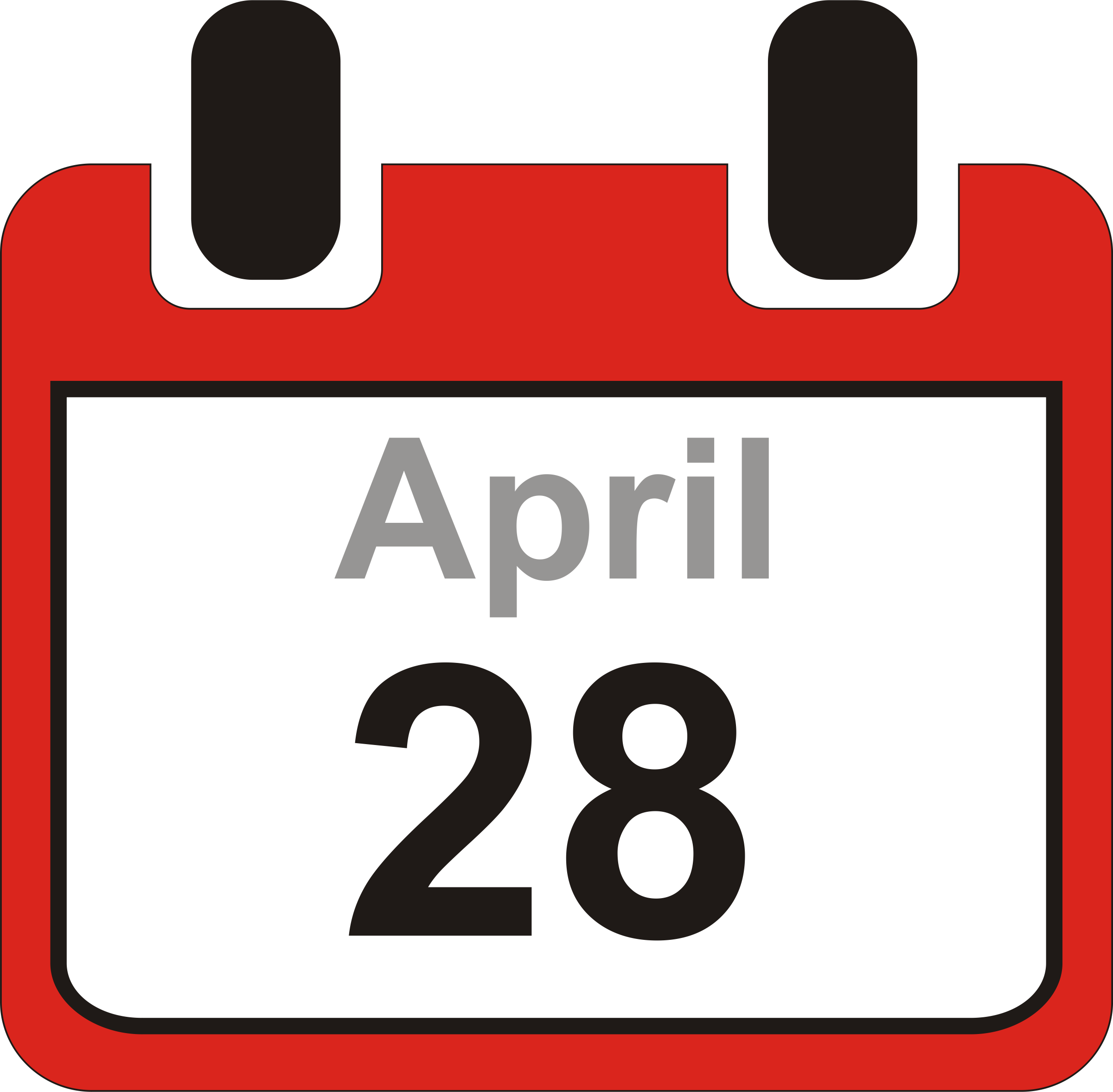 Calendar clip art free jpg library download April 28th calendar clipart - ClipartFest jpg library download