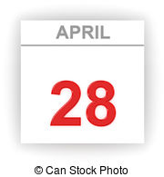 And stock illustrations drawingby. April 28th calendar clipart