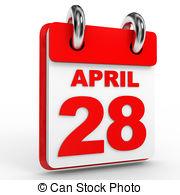 Illustrations and stock art. April 28th calendar clipart