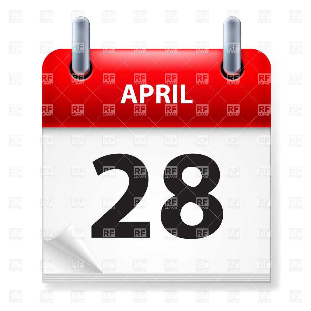 April 28th calendar clipart. Th clipartfest icon of