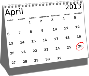 April 28th calendar clipart picture free library Calendar april clipart - ClipartFest picture free library