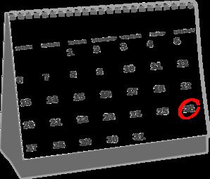 April 28th calendar clipart. Clipartfest desk clip