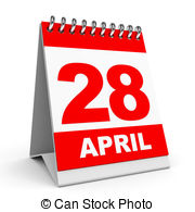 April 28th calendar clipart