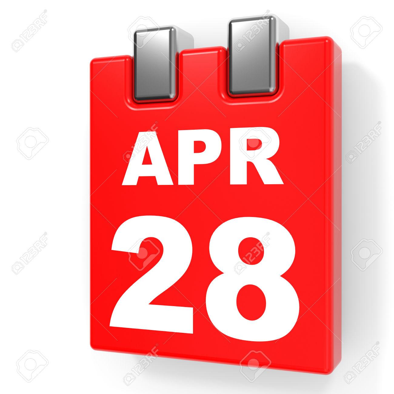 April 28th calendar clipart.  the twenty eighth