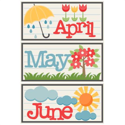 April and may clipart clip library download April May June Titles SVG scrapbook cut file cute clipart files for ... clip library download