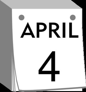 April calendar clip art png download April Calendar Clip Art at Clker.com - vector clip art online ... png download