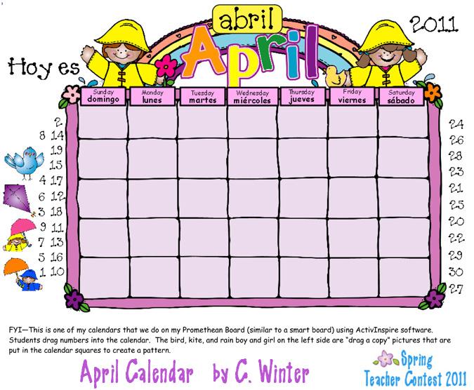 April calendar clip art clip art freeuse April Calendar Clipart - Clipart Kid clip art freeuse