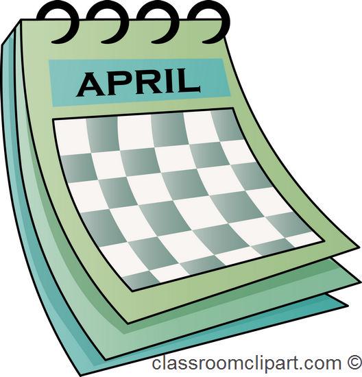 April calendar clip art graphic royalty free download April Calendar Clipart - Clipart Kid graphic royalty free download