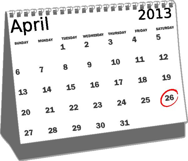 April calendar clipart clipart royalty free download April 2013 Desk Calendar Clip Art at Clker.com - vector clip art ... clipart royalty free download