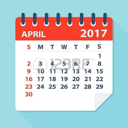 April calendar clipart banner black and white download 18,967 April Calendar Stock Vector Illustration And Royalty Free ... banner black and white download