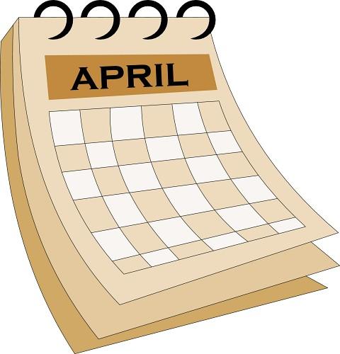 April calendar clipart
