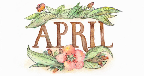 April calendar headings clipart jpg freeuse library Happiness is...: April 2015 Free Printable Calendar & Planner jpg freeuse library