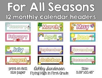 April calendar headings clipart jpg black and white stock 1000+ images about Preschool Calendar Printables on Pinterest ... jpg black and white stock