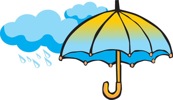 Showers bring may flowers. April clip art