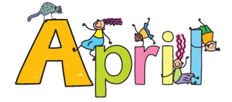 Free printable. April clip art