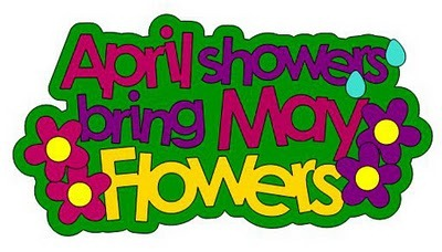 April clip art. Showers bring may flowers
