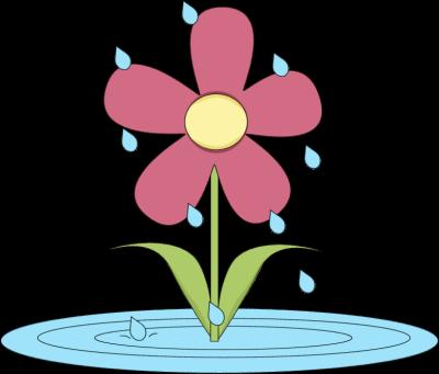 Cartoon clipart kid showers. April clip art