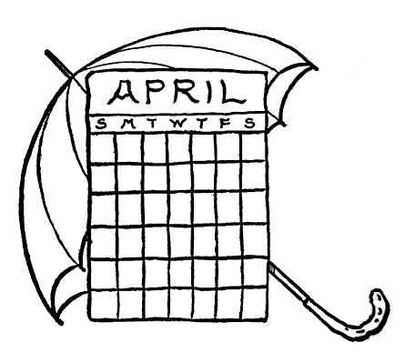 April clip art black and white graphic free library April Calendar Clipart - Clipart Kid graphic free library