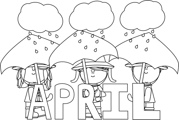 April clip art black and white picture royalty free library April Clip Art - April Images - Month of April Clip Art picture royalty free library