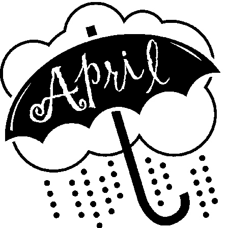 April clip art black and white clipart free April showers clipart black and white - ClipartFest clipart free