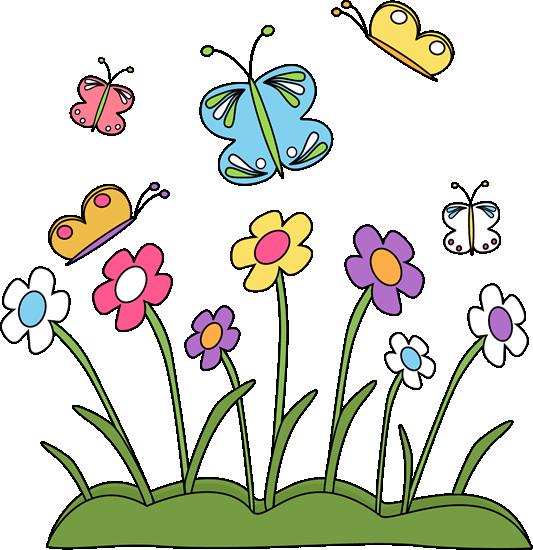 April clip art teachers. Clipartfest and butterflies