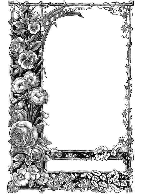 April clipart antique