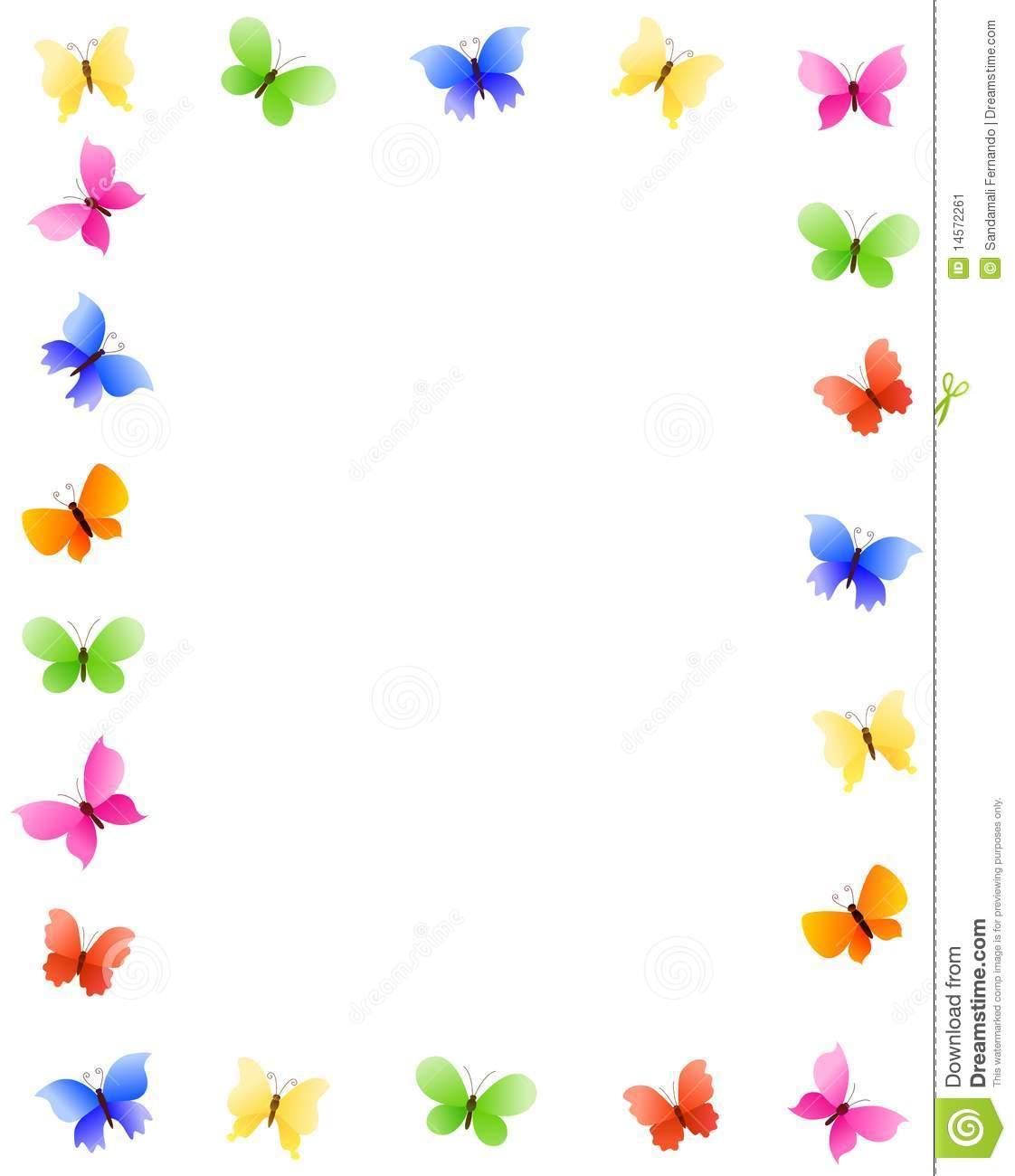 April clipart borders. Images for butterflies clipartfest