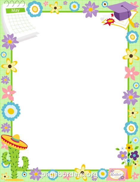 April clipart borders. Free spring clip art