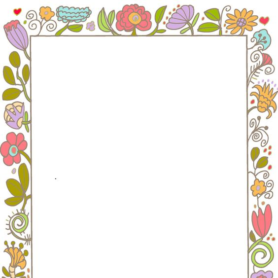 April clipart borders picture library Borders Frames Vintage Style Decorative Cute Invite Wedding ... picture library