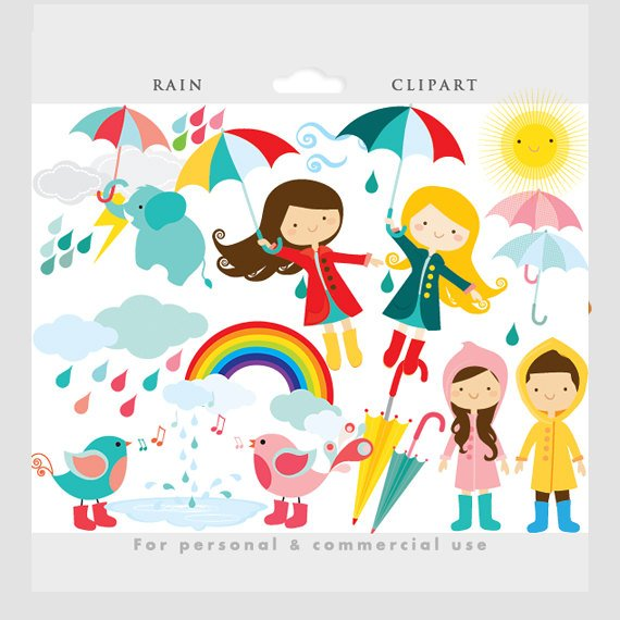 Weather words clipart