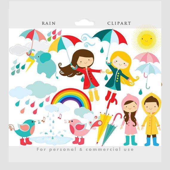 Weather words clipart clip art freeuse download Rain clipart - rain clip art, cute, whimsical, flying girl umbrellas ... clip art freeuse download