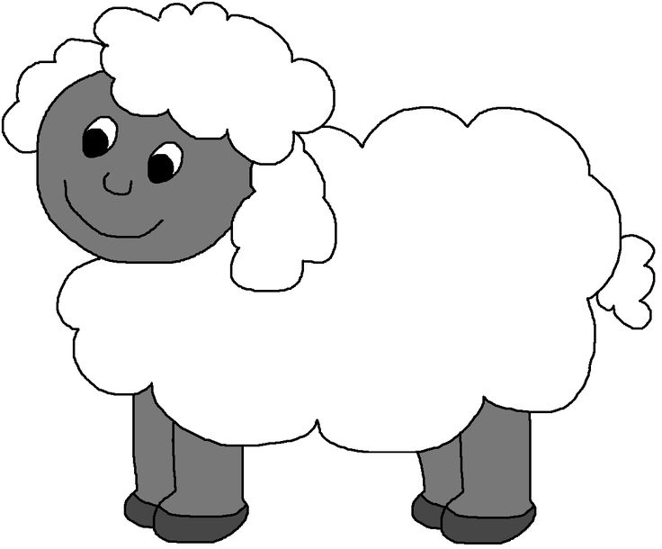 April clipart free black and white sheep png 17 Best images about Down On The Farm on Pinterest | Donald o ... png
