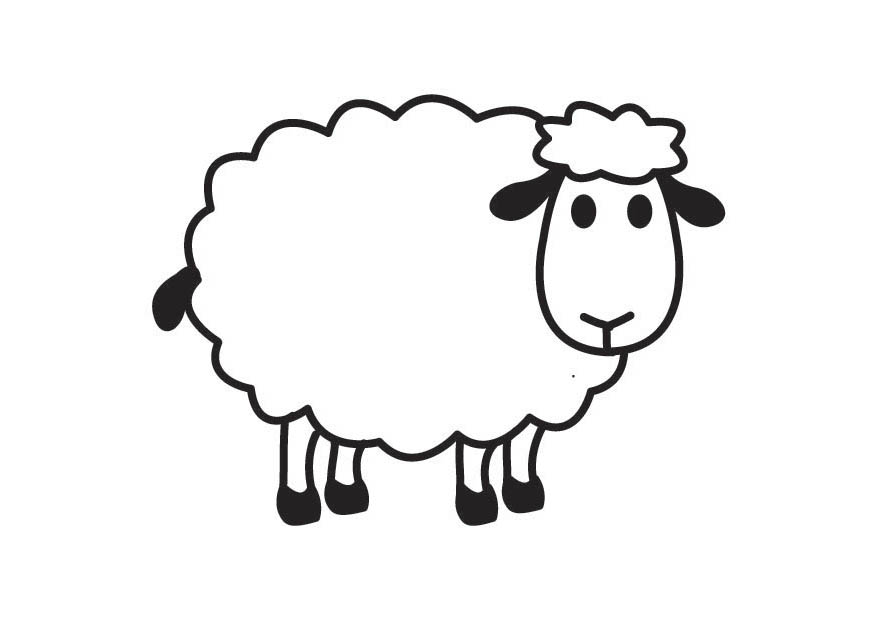 April clipart free black and white sheep svg library download White Sheep Clipart | Clipart Panda - Free Clipart Images | Sheep ... svg library download