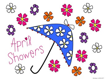 April clipart transparent background clip royalty free library April Showers and Flowers Clip Art clip royalty free library
