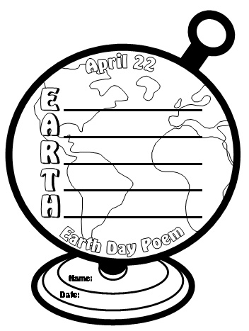 April earth day clipart black and white clip royalty free Earth Day Lesson Plans: Powerpoint Presentations, Poetry, Creative ... clip royalty free