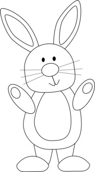 White bunny clipart svg library library FREE black and white bunny clipart ~ Easter ~ rabbit ~ Spring ~ March ~  April svg library library
