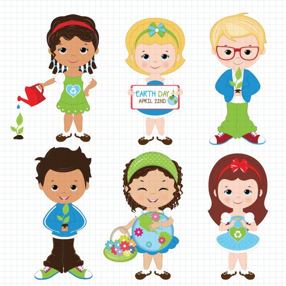 April ethnic kids clipart graphic free stock Earth day clipart, Globe, Kids, environmental, educational, Recycle ... graphic free stock