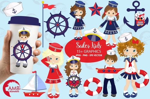 April ethnic kids clipart graphic library download Nautical clipart, Nautical kids clipart, Nautical fashion girls, Coastal  clipart, AMB-893 graphic library download
