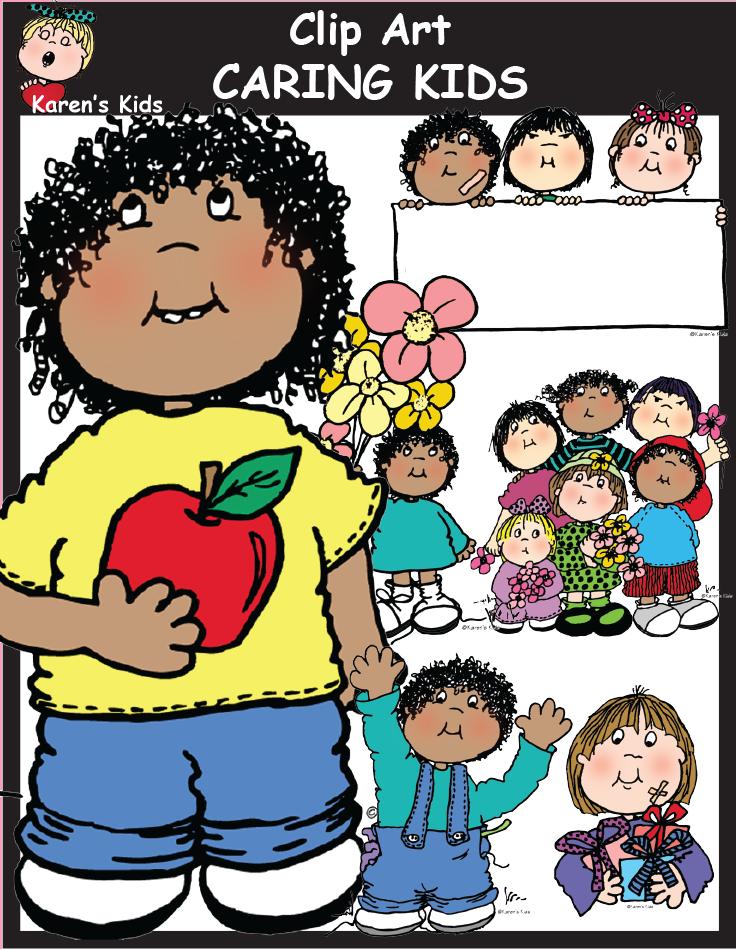 April ethnic kids clipart svg transparent Caring Kids clipart includes 49 images files. 25 full color TIFF ... svg transparent