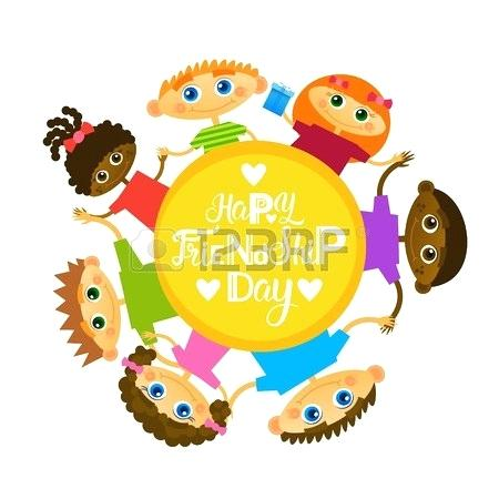 April ethnic kids clipart clipart black and white library clipart for friendship – artsoznanie.com clipart black and white library