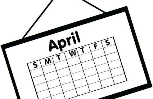 April events coming up clipart black and white jpg library library Calendar Clipart Black And White   Free download best Calendar ... jpg library library