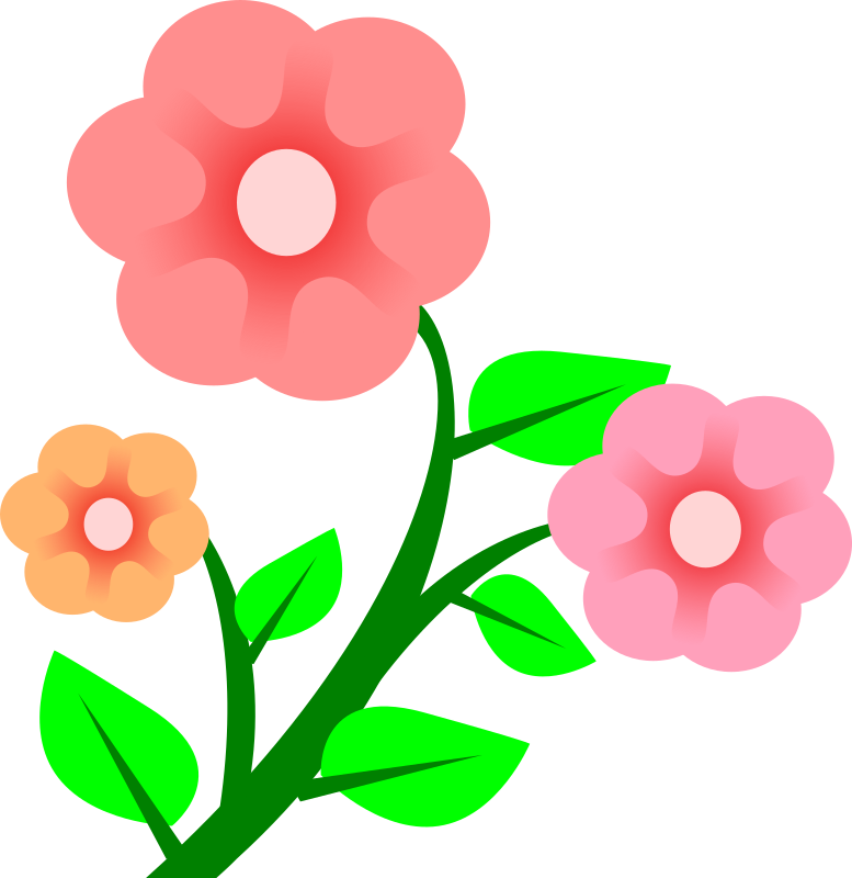 Budding flower clipart freeuse stock Clipart - 3 flowers freeuse stock