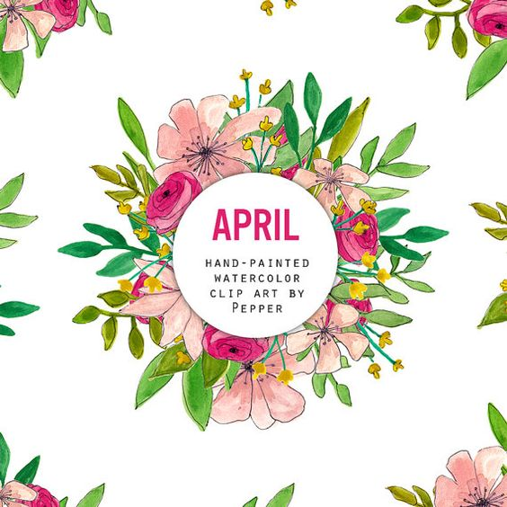 April flowers clips. May clip art clipart