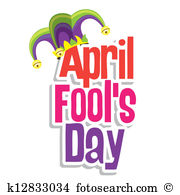 April fool clip art. Fools day and illustration