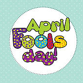 Fools day and illustration. April fool clip art