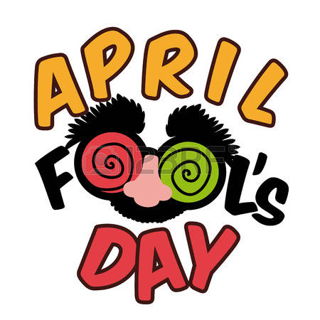 April fools day clipart.  stock vector illustration