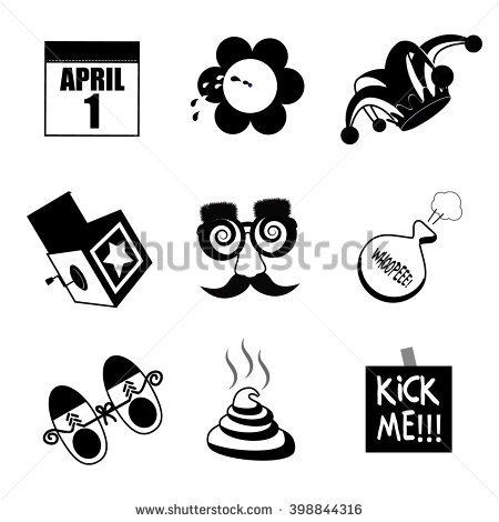 April fools day clipart black and white clip royalty free stock April Fools Day Black White Icon Stock Illustration 398844316 ... clip royalty free stock