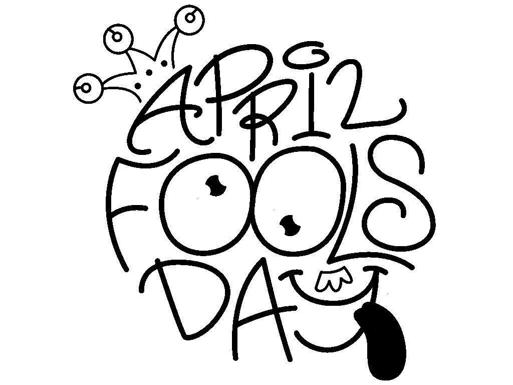 April fools day clipart black and white vector transparent library Arts & Crafts in April vector transparent library